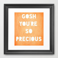 Gosh (Precious) Framed Art Print by Rachel Burbee | Society6