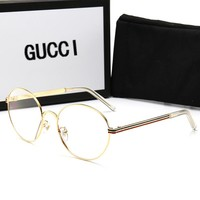 GUCCI Fashion Women Men Oval Framework Sun Shades Eyeglasses Glasses Sunglasses Transparent
