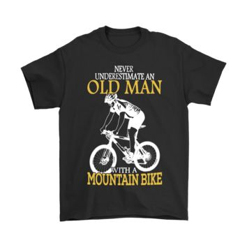 ESB8HB Never Underestimate An Old Man With A Mountain Bike Shirts