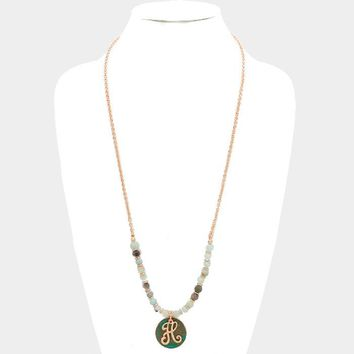 Monogram Beaded Necklace H