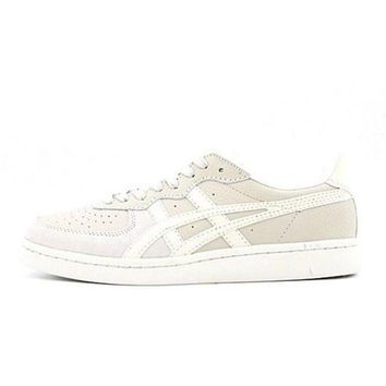 asics onitsuka tiger gsm white beige unisex running shoes sneakers trainers  number 1