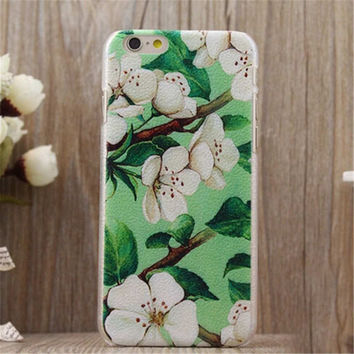 Vintage Summer Flower Case Cover for iPhone 5s 6 6s Plus