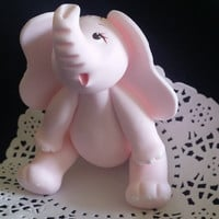 Baby Elephant Cake Topper, Baby Shower Elephant Cake Topper, Baby Elephant Cake, Elephant Baby Shower, Pink Elephant, Baby Animal Topper