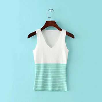 Color Blocking Tank Top