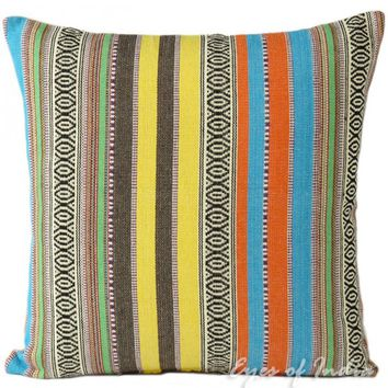 "16"" Colorful Eclectic Decorative Throw Pillow Cushion Cover"