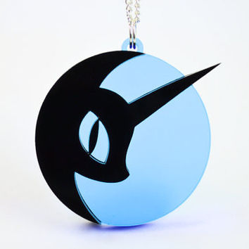 My Little Pony Nightmare Moon Necklace - Laser Cut Acrylic Jewelry