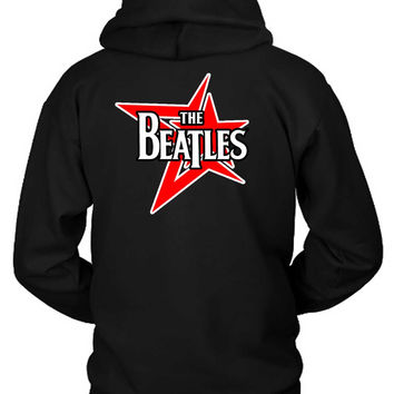 The Beatles Red Stars Hoodie Two Sided