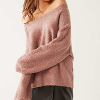 UO Cozy Off-The-Shoulder Sweater   Urban Outfitters