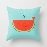 Don't let the seed stop you from enjoying the watermelon Throw Pillow by Ilovedoodle
