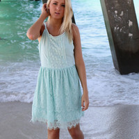 Bali Light Mint Lace Double T-Strap Sundress