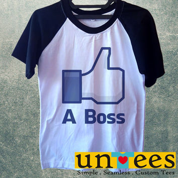 Like A Boss Short Raglan Sleeves T-shirt