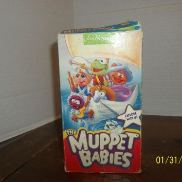1993 jim henson muppet babies explore with us video vhs movie