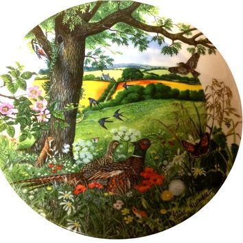 Vintage Wedgwood Plate Meadows and Wheatfields From Country Panorama Series