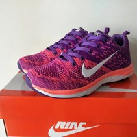 """Nike"" Women Sport Casual Flyknit Multicolor Sneakers Running Shoes"