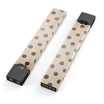 Tan and Black Grunge Polka Dots - Premium Decal Protective Skin-Wrap Sticker compatible with the Juul Labs vaping device