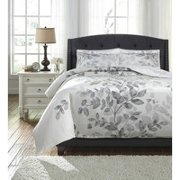Q287003Q Dangela Queen Duvet Cover Set - Gray - Free Shipping!