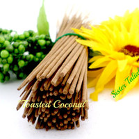 Toasted Coconut Incense Handmade All Natural Incense Sticks Home Fragrances Aroma Therapy Home and Living Fragrance Oil Hand Dipped