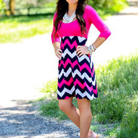 Can't Say No Chevron Dress