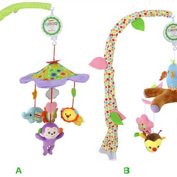Infant Baby Bed Bell Crib Toys Baby Toys 0-12 Months Mobile Crib Rotating Music Hanging Rattles Musical Educational Toys
