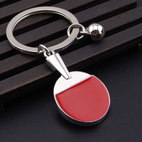 Sport Ping Pong Table Tennis Ball Badminton Bowling Ball Keychain Key Chain Keyring Key Ring Souvenir Gift
