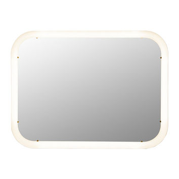 STORJORM Mirror with integrated lighting White 80x60 cm - IKEA
