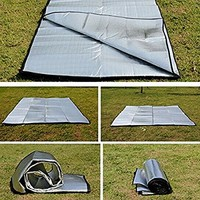 MMdex Waterproof Aluminum Foil EVA Sleeping Mattress Mat Pad for Outdoor Camping Hiking Travel Picnic Silver