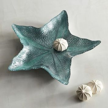 Starfish Glass Serving Platter