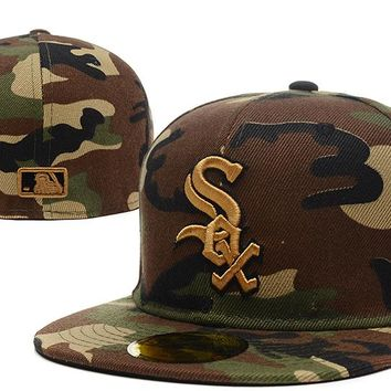 Chicago White Sox New Era MLB Authentic Collection 59FIFTY Cap Camouflage-Golden