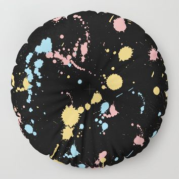 Spatter Floor Pillow by duckyb