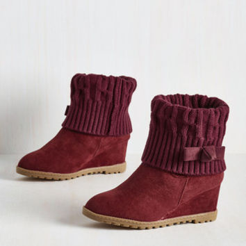 Knit Your Average Boot in Burgundy