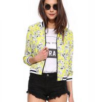 Floral Cropped Coat