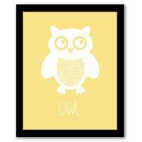 Owl Wall Art, Nursery Wall Art, Yellow, Kids Room, Girls Room, Printable Art, Girls Nursery, Playroom Decor, Owl Art, INSTANT DOWNLOAD