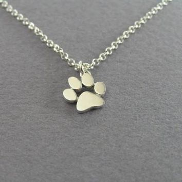yiustar 2017 New Necklace Tassut Cat Dog Paw Print Animal Necklace women Pendant Long Cute Delicate Statement Necklace XL191