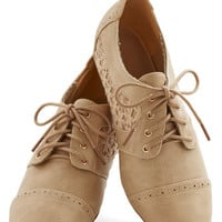 ModCloth Menswear Inspired Always on Your Side Flat in Natural