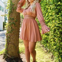 Showered With Kisses Dress: Dusty Rose