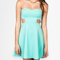 cut-out skater tube dress