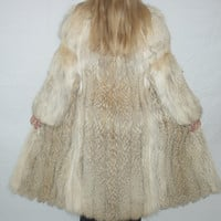 Coyote Real Fur Coat Euro Med Large Full Length Classic Style Hermans Furs