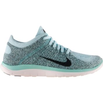 396c88712035 Nike Women s Free 4.0 Flyknit Running Shoe - Grey Mango Black