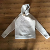 """The North Face"" Fashion Cotton Embossing Hooded Top Pullover Sweater"