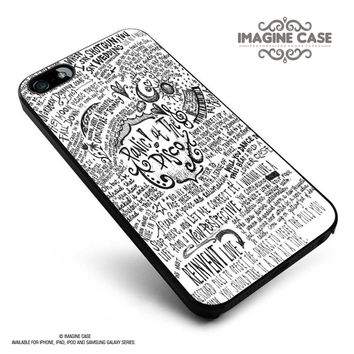 Panic At The Disco Lyric case cover for iphone, ipod, ipad and galaxy series