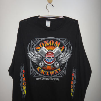 Sonoma Raceway Long Sleeve Shirt  Nascar Sonoma Sears Point California USA Sears Point Racing Car shirt