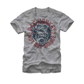 Gas Monkey Garage Hot Rod Dallas TX Logo Licensed Adult T-Shirt - Grey
