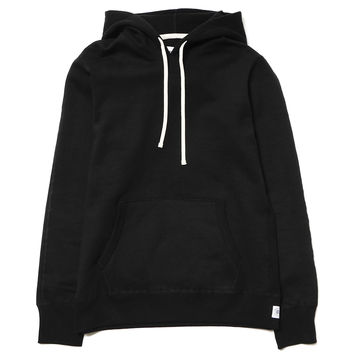 Heavyweight Terry Pullover Hoodie Black