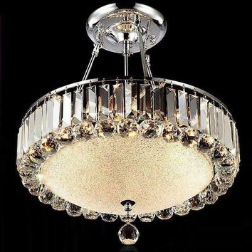 Round Modern Crystal Chandelier Living Room Led Restaurant Lamp Crystal Lamps Ceiling round Light Lampen work Glass Chandeliers