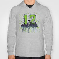 Seattle Seahawks 12th Man Fan Art Hoody by Olechka