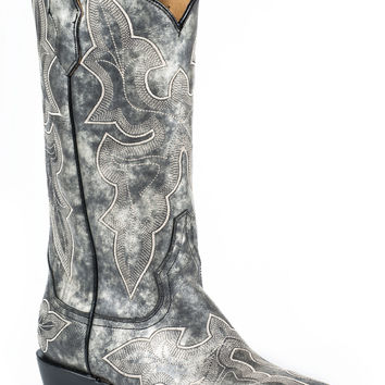 Stetson Ladies Fashion Snip Toe Boots Vintage Grey Vamp And 13 Shaft With Snip Toe Toe