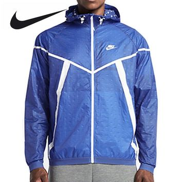 Nike Original Men Spring Windproof Jacket Windrunner Black Jacket 642967-480