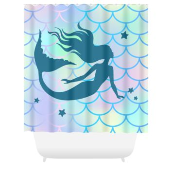Mermaid Shower Curtain Mermaid Decor Bathroom Decor