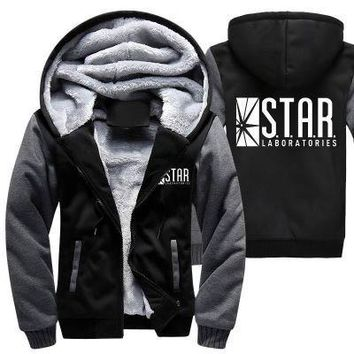 New Winter Jackets and Coats The Flash hoodie Anime Justice League Hooded Thick Zipper Men cardigan Sweatshirts