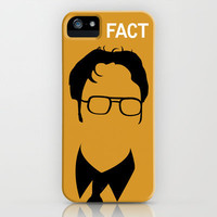 Dwight Schrute iPhone & iPod Case by Stacia Elizabeth